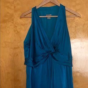 Turquoise silk wedding/formal dress